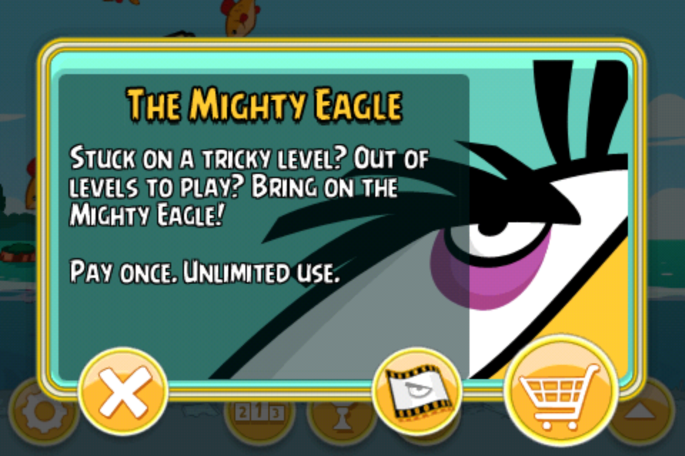 Angry birds in app purchases