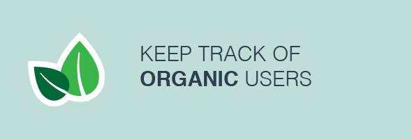 Track organic users