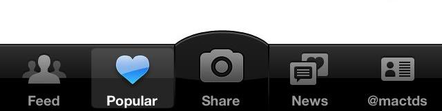 app design navigation panel