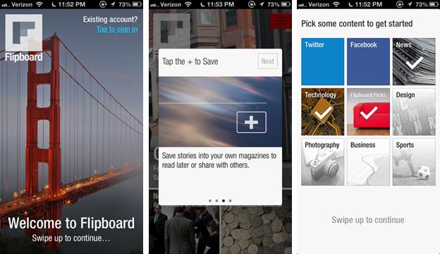 Flipboard user experience