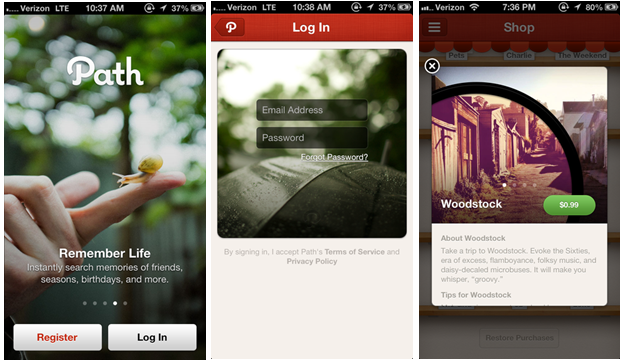 Path 10 Stunning Apps for App Design Inspiration