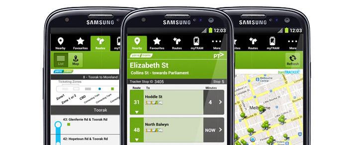 Tram Tracker smartphone application