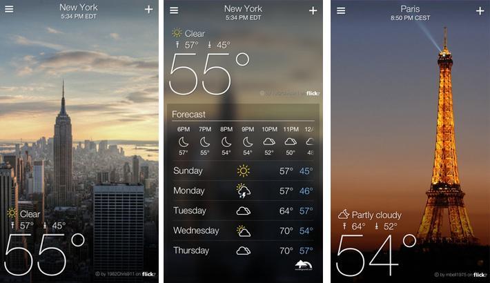 Yahoo! Weather app