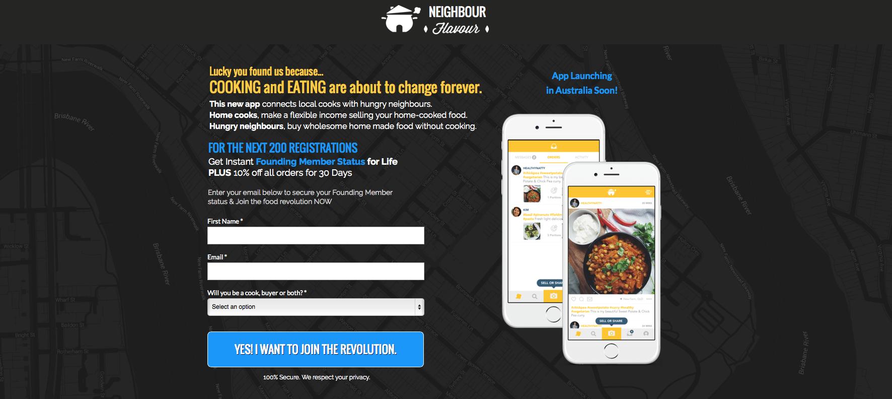 Neigbour Flavour Mobile App