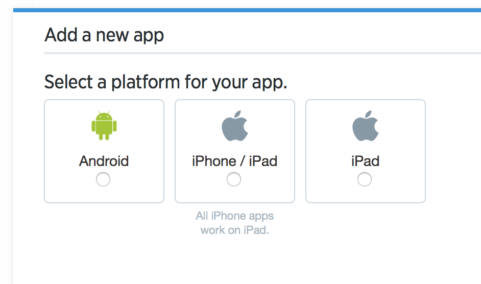 Select Android or iOS