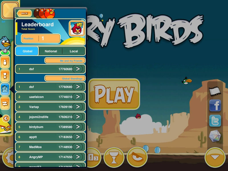 Angrybirds Leaderboard