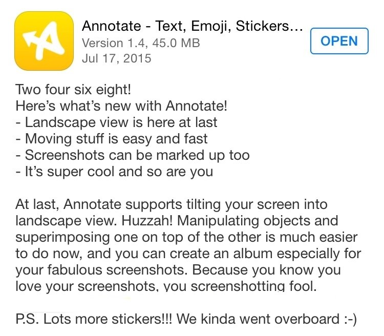 annotate release notes funny