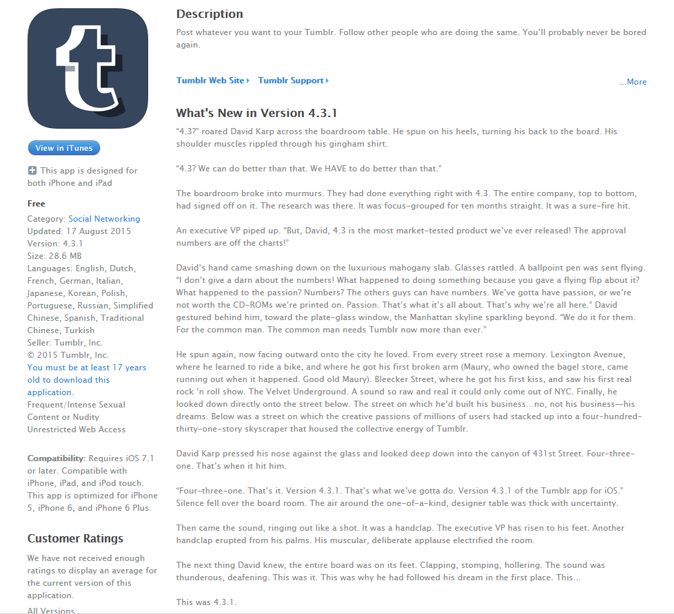 Top 10 Hilarious App Release Notes