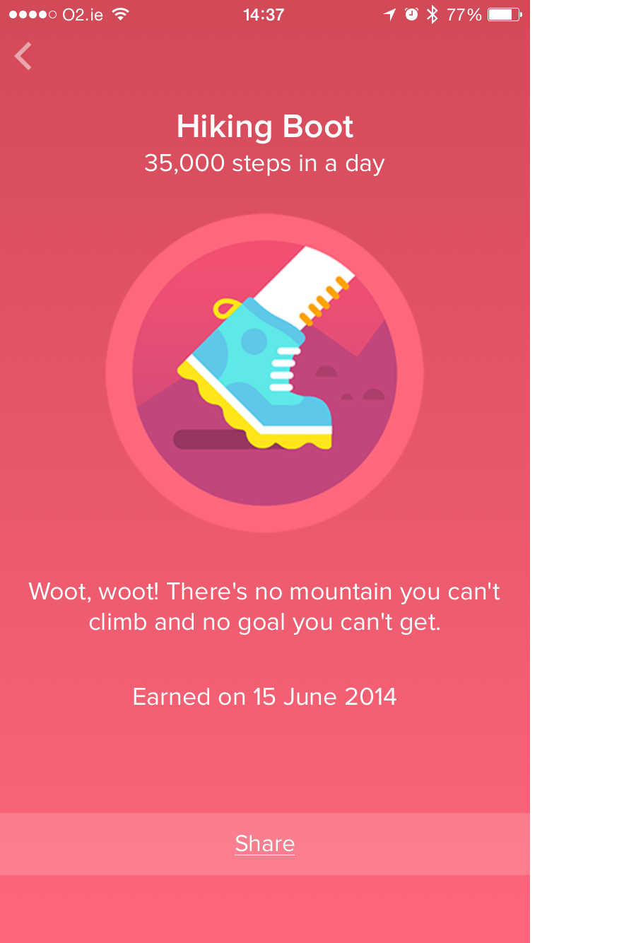 FitBit hiking boot award