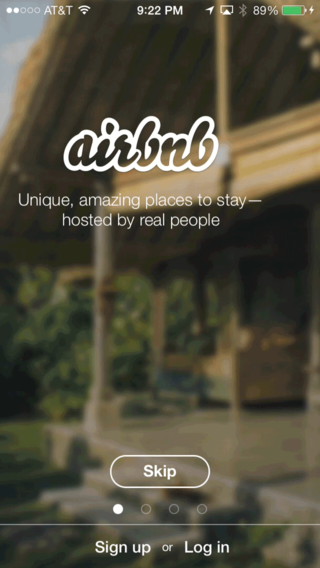 airbnb onboarding screen 2