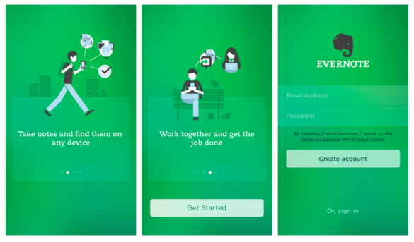 evernote onboarding process