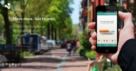 pre-launch landing page for Get Human app