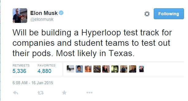 Elon Musk announces he is building a Hyperloop
