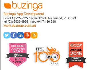 Buzinga email signature