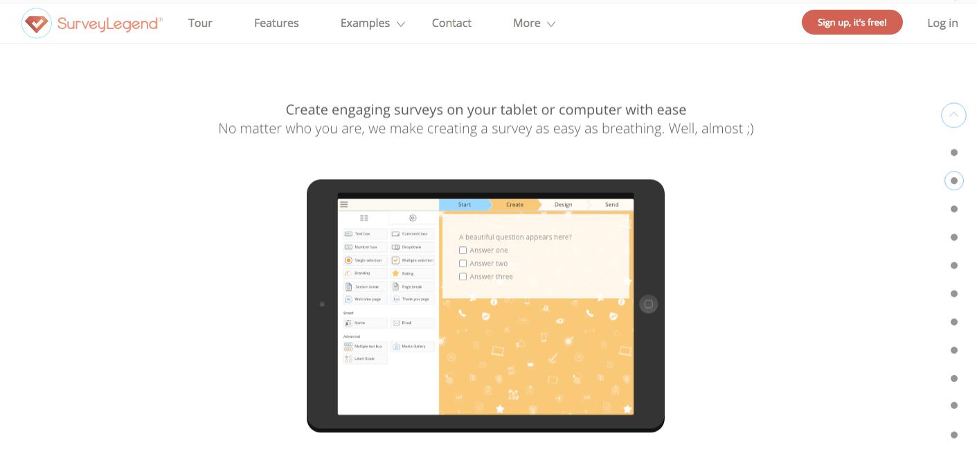 survey legend homepage
