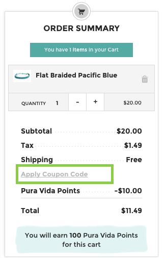 Order summary step in the mobile checkout process