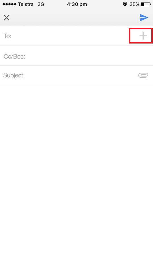 gmail mobile app inbox screenshot