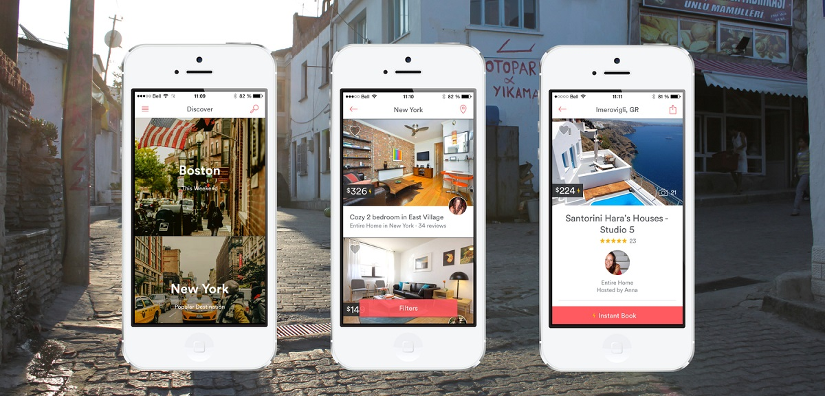 Airbnb mobile app interface
